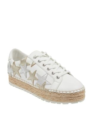 Maevel Leather Espadrille Sneakers by Marc Fisher LTD