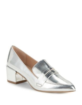 Wilma Metallic Leather Penny Loafer by Charles by Charles David