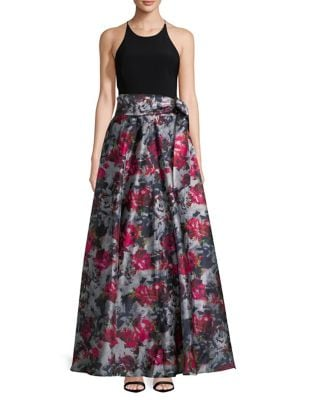 Floral Sleeveless Floor-Length Dress by Blondie Nites