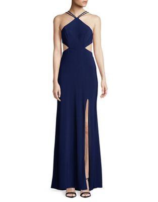 Cut-Out Floor-Length Dress by Blondie Nites