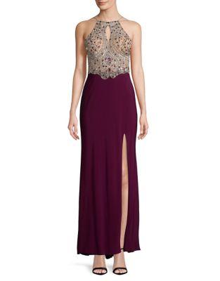 Embellished Keyhole Dress by Blondie Nites