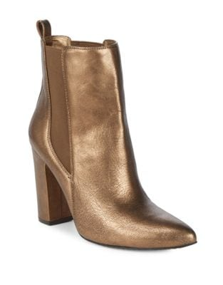 Britsy Metallic Leather Chelsea Boots by Vince Camuto