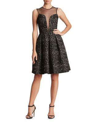 Olivia Floral Lace Fit-&-Flare Dress by Dress The Population