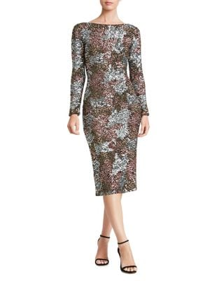 Brenna Multi-colored Sequined Bodycon Dress by Dress The Population