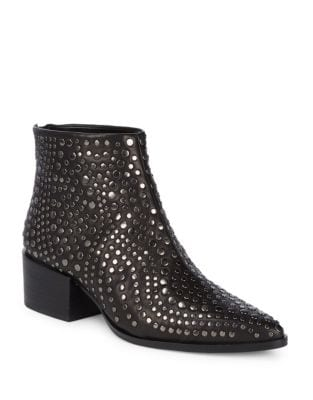 Edenn Leather Studded Booties by Vince Camuto