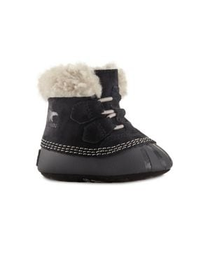 Baby Girl's Shearling-Lined...