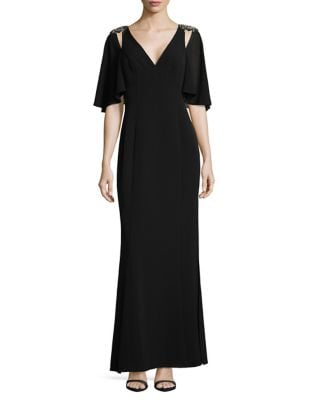 Beaded Shoulder Gown by Vince Camuto