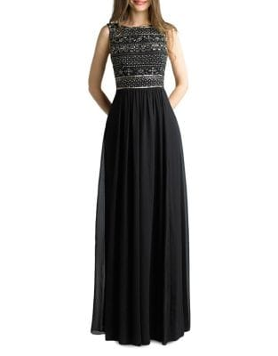 Sequin Floor-Length Gown by Basix