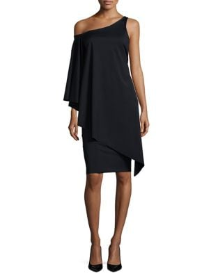 Overlay One-Shoulder Dress by Chiara Boni La Petite Robe