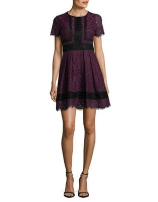Petite Floral Lace Fit-&-Flare Dress by Eliza J