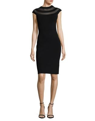 Petite Illusion Sheath Dress by Eliza J