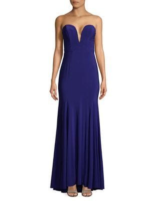 Strapless Hi-Lo Gown by Xscape
