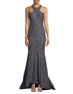 Halterneck Hi-Lo Mermaid Gown by Xscape