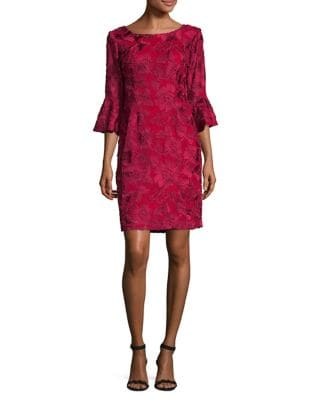 Petite Floral Illusion Sleeve Dress by Alex Evenings