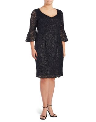 Plus Lace Knee-Length Dress by Alex Evenings