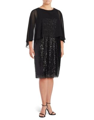 Plus Sequin Knee-Length Dress by Alex Evenings