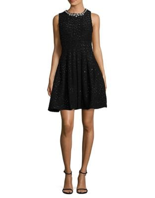 Petite Embellished Fit-&-Flare Dress by Eliza J