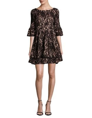 Petite Floral Lace Mini Dress by Eliza J