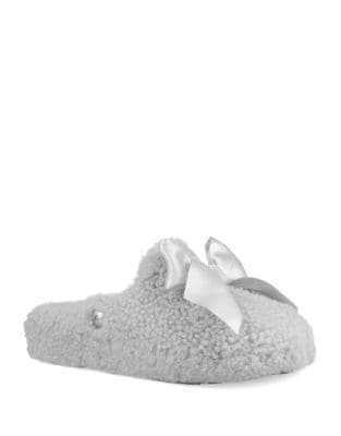 Sheepskin Bow Slippers 500087774123
