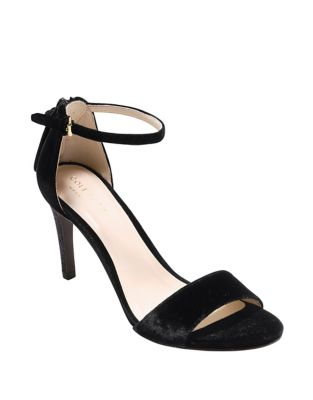 Clara Velvet Ankle Strap Sandals by Cole Haan