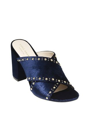 Gabby Studded Velvet Sandals by Cole Haan
