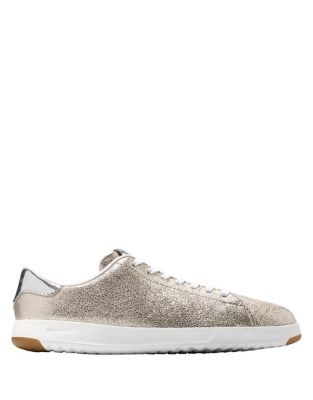 Grandpro Metallic Leather Tennis Sneakers by Cole Haan