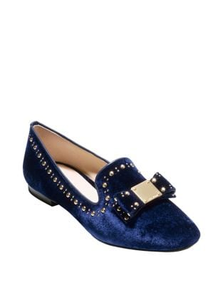 Tali Bow Studded Velvet Loafers by Cole Haan