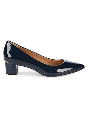 Calvin Klein - Genoveva Block Heel Leather Pumps