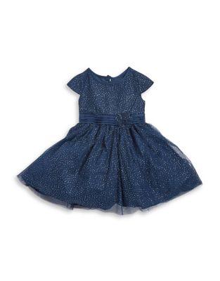 Little Girls Bow Metallic Dress