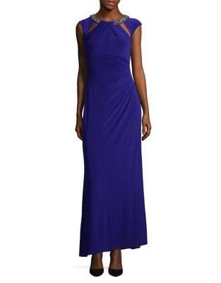 Jeweled Cap Sleeve Dress by Eliza J