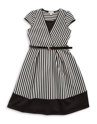 Girl's Striped Cap Sleeve...