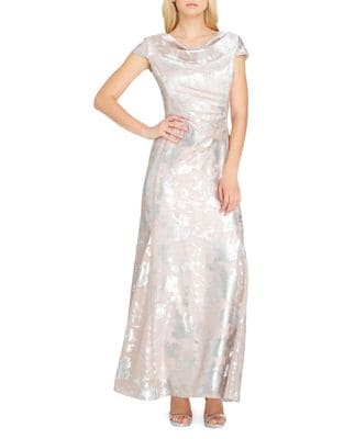 Burnout Floor-Length Dress by Tahari Arthur S. Levine