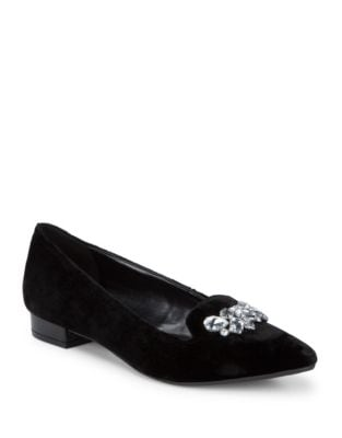 Kamy Velvet Loafers by Anne Klein