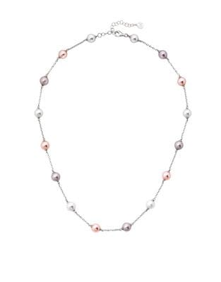 Illusion 8MM White, Nuage and Pink Organic Pearl and Sterling Silver Necklace 500087776782