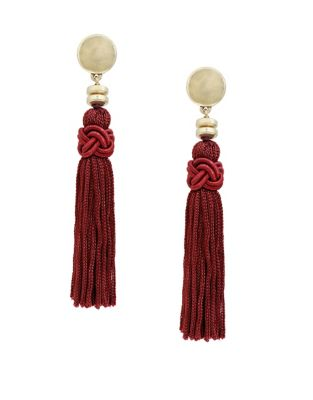 Merlot Tassel Earrings 500087778184