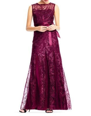 Floral Lace Gown by Adrianna Papell