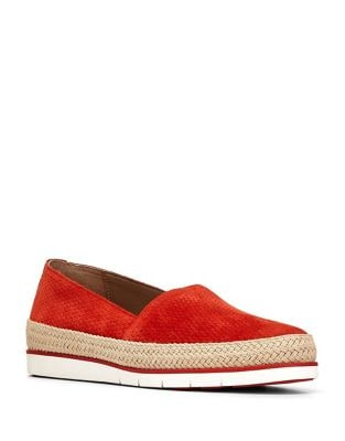 Palm Embossed Suede Slip-On Sneakers by Donald J Pliner
