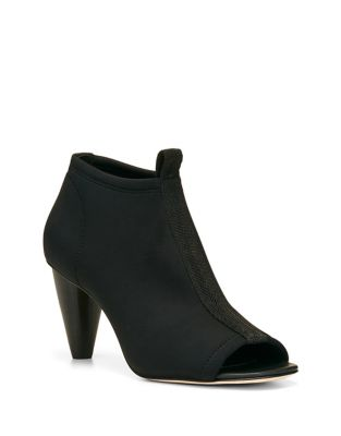 Pru Textile Peep-Toe Booties by Donald J Pliner