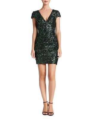 Zoe Sequined Mini Dress by Dress The Population