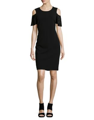Laced Cold-Shoulder Sheath Dress by Tommy Hilfiger