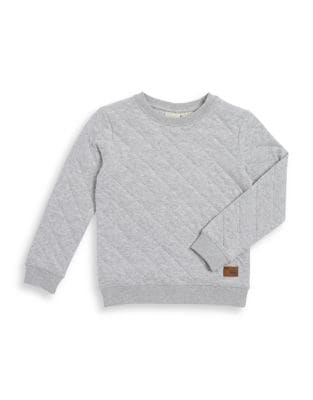 Boy's Quilted Crewneck...