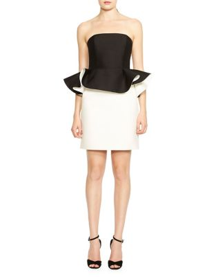 Ruffled Strapless Dress by Halston Heritage