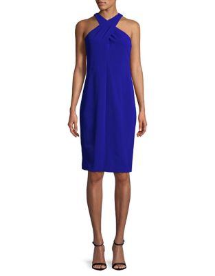 Crisscross Sheath Dress by Calvin Klein