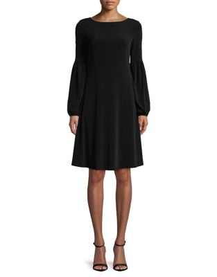 Balloon-Sleeve A-Line Dress by Calvin Klein