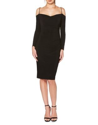 Skinny Strap Knee-Length Dress by Laundry by Shelli Segal