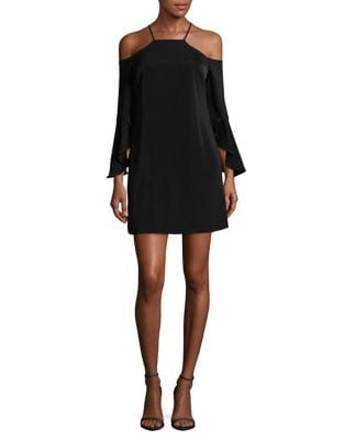 Cold-Shoulder Shift Dress by Laundry by Shelli Segal