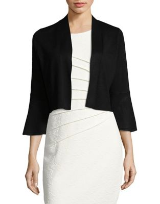 Bell-Sleeve Cropped Cardigan by Calvin Klein