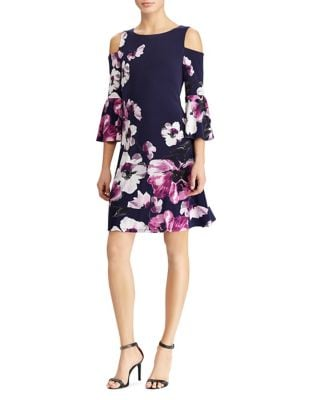 Floral Cold-Shoulder Sheath Dress by Lauren Ralph Lauren