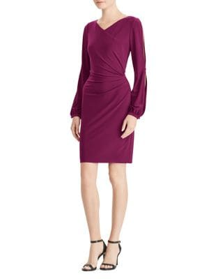 Surplice Jersey Bodycon Dress by Lauren Ralph Lauren