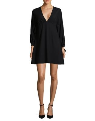 Bishop Sleeve Shift Dress by Halston Heritage